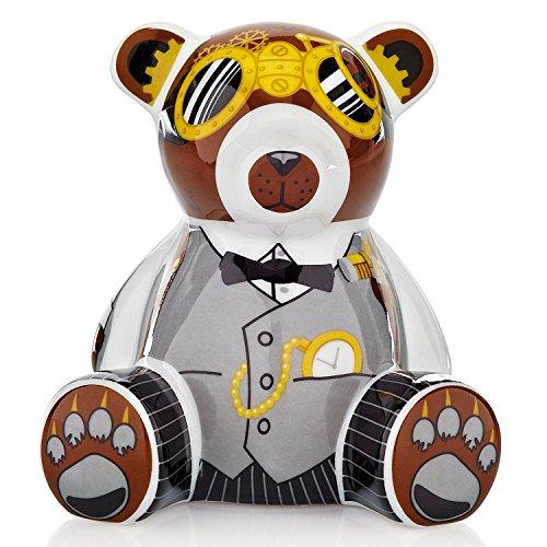Ritzenhoff Mini Teddy Bank Bär A. Olabuenaga H12 Spardose, Porzellan, bunt, 7.5 x 9.5 x 10.5 cm