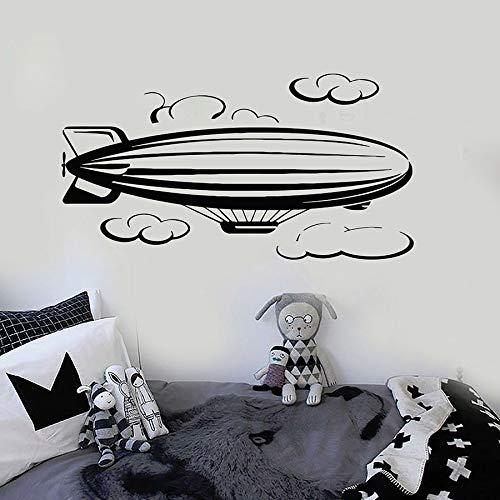 Tianpengyuanshuai vinyl wandtattoo boot wolk kinderen slaapkamer decoratie raam sticker avontuur stijl wandafbeelding