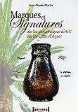 Marques et signatures de la Céramique d'art de la Côte d'Azur