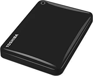 TOSHIBA - Canvio Connect II 1TB USB 3.0 Portable Hard Drive - Black HDTC810EK3AA