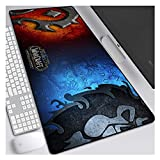 FNCNB World of Warcraft 900X400Mm Alfombrilla para Ratón, Teclado Extendido, Alfombrilla De Ratón para Juegos Profesionales, con Base De 3 Mm De Grosor, para Portátiles, Pc, L