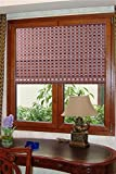 ASIAN HOME Natural Bamboo Roll Up Window Blind Sun Shade WB-G16 (24W X 72H)