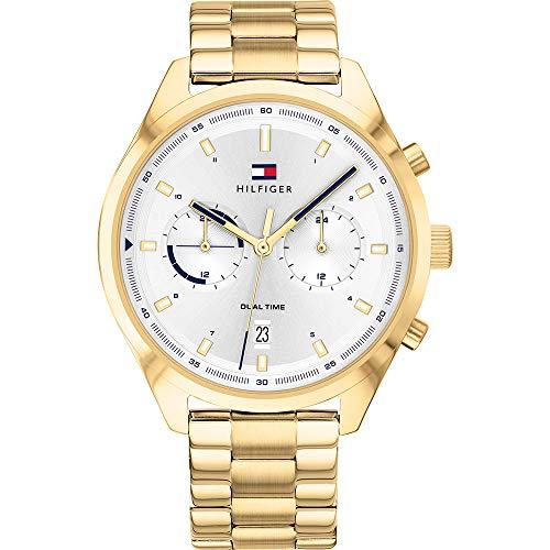 Tommy Hilfiger Herren Analoger Quarz Uhr mit Edelstahl Armband 1791726