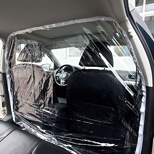 Car Taxi Isolation Film Partition Plastic PVC Anti-Saliva Fully Enclosed Partition Screen Protective Net for Car Front and Rear