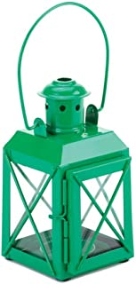 Sunshine Megastore Iron Railroad Railway Candle Lamp Lantern (Green)
