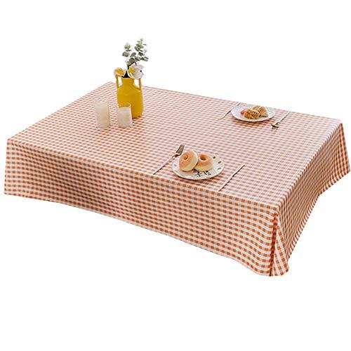 Tafelkleed Bedrukt tafelkleed Salontafel doek waterbestendig Olie resistent plastic Plaid Vierkante tafel en rond tafelkleed Diverse maten en kleuren,Orange,100X150cm