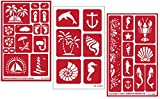 3 Armour Etch Over N Over Reusable Glass Etching Stencils Set | Nautical Theme | Paradise, Seashore, Under The...