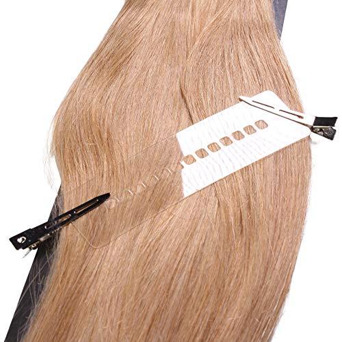 Extensions Zubehör – Schablone mit Haarclips im Set