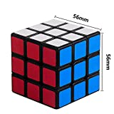 Sengso Speed Cube 3x3 Magic Cube Brain Teaser Puzzle Cube Smooth Turning Sticker Black