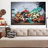 YCOLLC - Juego de Pintura en Lienzo con impresión HD de explosión volcánica en la Calle, Pintura Abstracta en Lienzo, póster de Cuadros, Imagen de Pared para el salón, 70x100cm