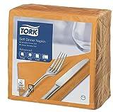 Tork 477915 Soft Dinner Servilleta para cena extrasuave / 3 capas/color naranja / 12 paquetes x 100 unidades (1200 servilletas) / 39 cm x 39 cm/Advanced