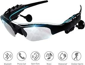 Eleganlife Sunglass Headphones Bluetooth Sunglasses Wireless Bluetooth Headsets V4.1 Stereo Handfree Bluetooth Headphones Foldable Polarized Lenses UV Protection Outdoor Sports Cycling Sunglasses