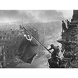 Khaldei War WWII UdSSR Flagge über Reichstag Foto