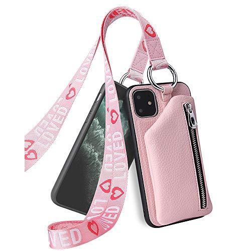 hongpiong Handyhülle für Huawei Honor 20,Hülle Premium PU Leder Weich TPU [Stoßfest] Magnetverschluss Kartenfach Geldbörse mit Trageband Schutzhülle