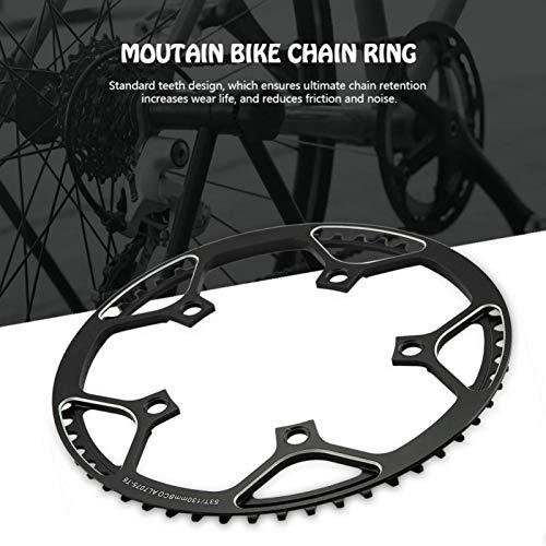 SALUTUYA Ligero Que Reduce la fricción y el Ruido Piñón de Bicicleta 53T Bicicleta de una manivela, para Bicicleta de Carretera Excelente reemplazo para reparación de Bicicletas(Black)