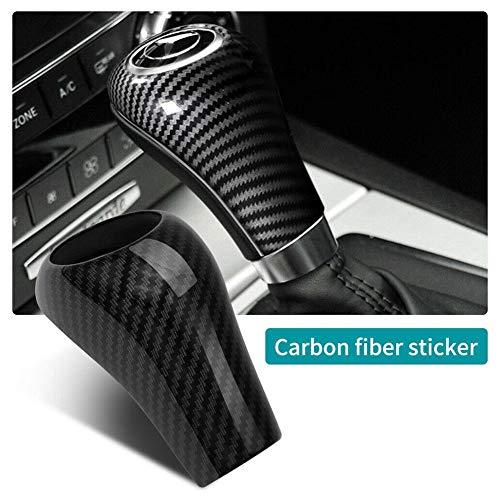LIANA IRIWN Carbon Fiber-Schaltknauf Abdeckung Gear Shift Knob Cover Trim für Mercedes-Benz W204 C E G GLS-Klasse GLK