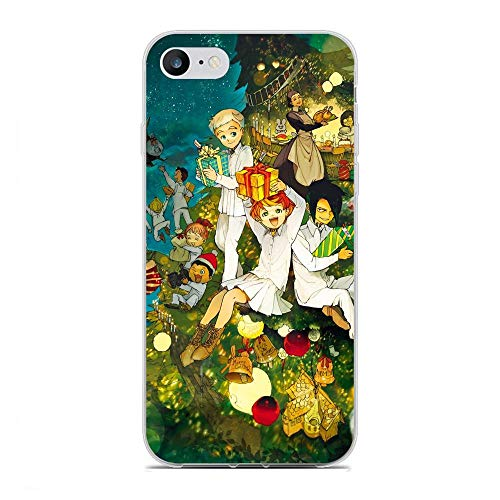 Ultra Thin Lightweight Anti-Skid Clear Soft Flexible Gel TPU Case Cover for Apple iPhone 6 Plus/6s Plus-The Promised-Neverland Anime 5