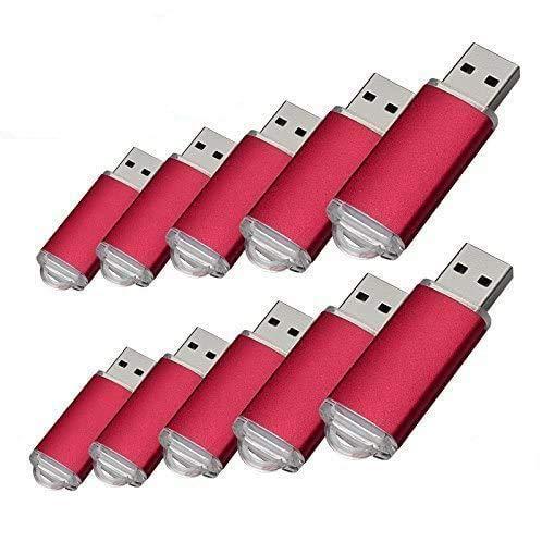 10pcs 1 G USB flash drive usb 2.0 Memory Stick Pen Drive de disco de memoria (1.0 GB)