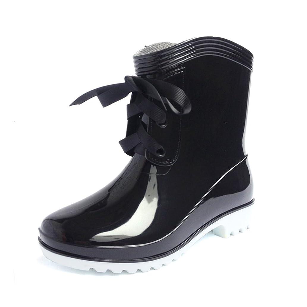 前売ギャロップタイプライター[スフォン] 防水 雨靴 レディース レインブーツ ショート リボン おしゃれ 軽量 靴 ラバー 女性 晴雨兼用 ガーデニング ウォーキング