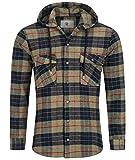 Rock Creek Camisa a cuadros para hombre M64 Verde Oscuro H255 XL