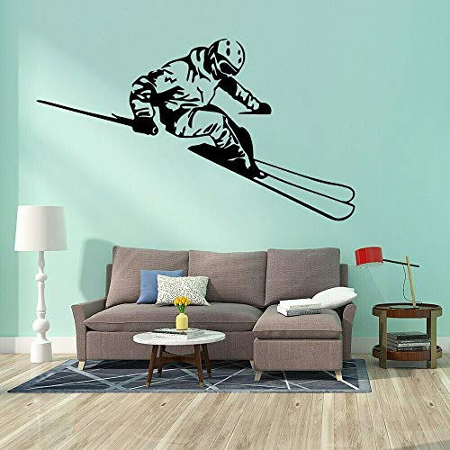 Ski sports wall sticker skier wall decal vinyl waterproof home bedroom decoration accessories 68X39cm