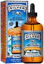 Sovereign Silver® Bio-Active Silver Hydrosol™ for Immune Support* - 8oz Dropper – The Ultimate Refinement of Colloidal Silver - Safe*, Pure and Effective* - Premium Silver Supplement (FFP)