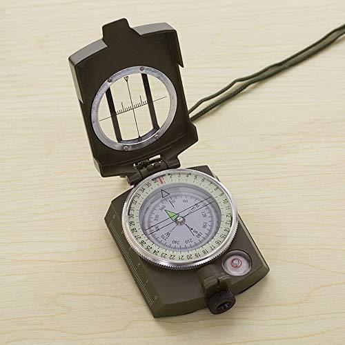 Mouchao Leuchtender Metallkompass-hoher Präzisions-Kompass-Magnetkompass für das Kampieren