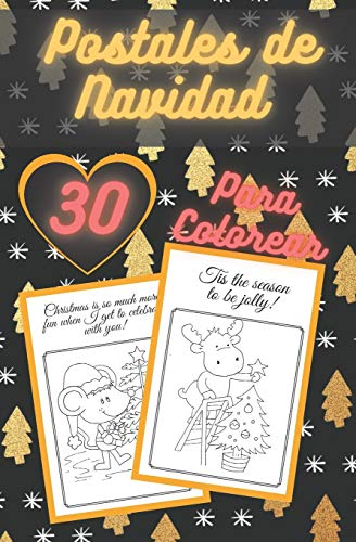 Postales De Navidad Para Colorear: Tarjetas Rasgables Hechas a Mano Para Colorear y Compartir   Crea Tus Propias Bendiciones   Cotizaciones Divertidas   Libro Para Adultos y Niños