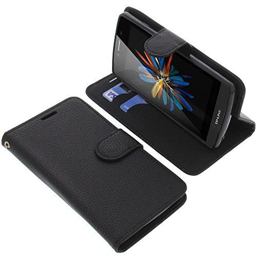 foto-kontor Tasche für TP-Link Neffos C5L Book Style schwarz Schutz Hülle Buch