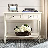 adjust draw table - Safavieh American Homes Collection Samantha Distressed/Cream 2-Drawer Console Table