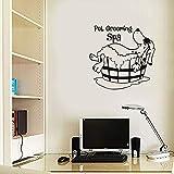 wandaufkleber 3d Wandtattoo Schlafzimmer Niedlicher Haustier-Hund, der Badepflege-Badekurort-Wand-Kunst-Abziehbild-Wand Stickerbedroom moderne Inneneinrichtung badet