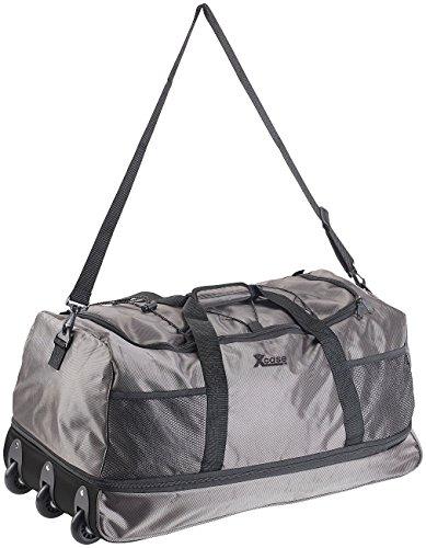 Xcase Sporttaschen: Reisetasche mit Trolley-Funktion, faltbar, erweiterbar, 75-100 l (Faltbare Reisetasche mit Rollen)