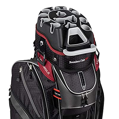 Founders Club Premium Cart Bag with 14 Way Organizer Divider Top (Charcoal and Black)