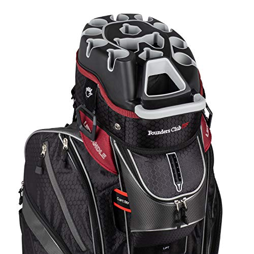 Founders Club Premium Cart Bag with 14 Way Organizer Divider Top (Charcoal Gray)