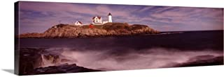 Lighthouse on The Coast, Nubble Lighthouse, York, York County, Maine, Canvas Wall Art Print, 60.