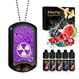 Cigarrillo Electronico,Manvap Winner Tag 7 W E-Cigarrillo Vaper con 5x10ml de E-líquido,Bobina de cerámica porosa,0 mg Nicotina (Rojo)
