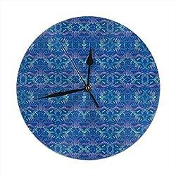 Deep Ocean Wall Clock Silent & Non-Ticking Clock PVC for Home Office School Decorative Round