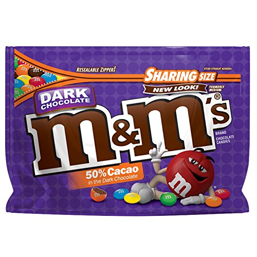 M&M'S Dark Chocolate Candy Sharing Size 10.1-Ounce Bag (286,3 g)