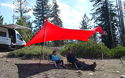 Neso Sidelines 1 Versatile Sports Sun Shelter, Patented Corners & Poles, 100% Recycled Stakes, 4.5lb