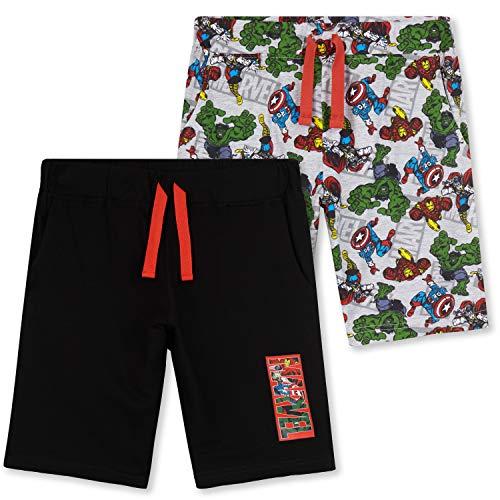 Marvel Pantalones Niños Cortos, Pack De Bermudas Verano con Los Vengadores Iron Man Capitán...
