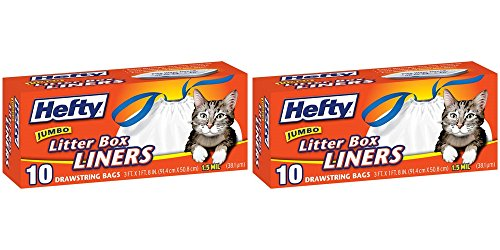 Hefty Jumbo Cat Litter Box Liners 10 count (Pack of 2)