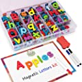 Gamenote Classroom Magnetic Alphabet Letters Kit 234 Pcs with Double-Side Magnet Board - Foam Alphabet Letters for Preschool Kids Toddler Spelling and Learning Colorful