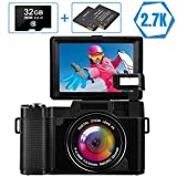 Digital Camera Vlogging Camera Full HD 2.7K 30MP for YouTube Compact Digital Cameras