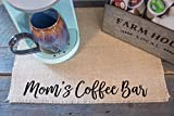 Mom's Coffee Bar - burlap coffee maker placemat