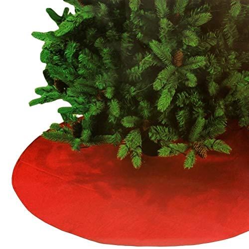 MIK Funshopping Weihachtsbaumdecke aus Fleece Ø 118 cm rot