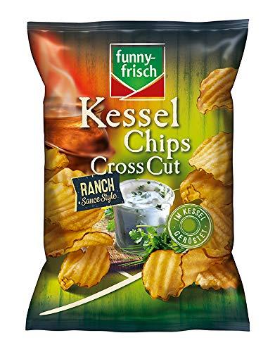 funny-frisch Kessel Chips Cross Cut Ranch Sauce Style, 10er Pack (10 x 120 g)
