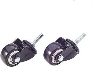 MroMax Office Chair Roller Swivel Caster Wheel 8mm Thread 1.5Inch Dia 1pcs/2pcs/4pcs