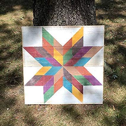 Not Branded Cartel cuadrado de 30 x 30 cm, diseño de estrella multicolor con fondo blanco para dormitorio con refranes para decoración del hogar 811864