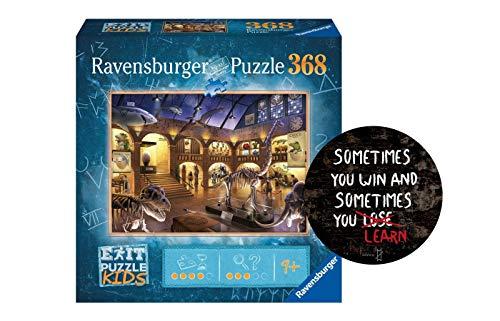 Collectix Ravensburger EXIT Puzzle Kids 12925 - Im Naturkundemuseum - 368 Teile für Kinder ab 9 Jahren + Sometimes You Win - Exit-Sticker