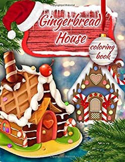 christmas coloring gingerbread house